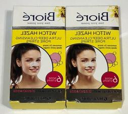 2 Boxes Biore Ultra Deep Cleansing Pore Strips, Witch Hazel,