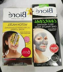 Biore - Charcoal One Minute Mask & Witch Hazel Deep Cleansin