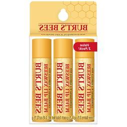 Burt's Bees 100% Natural Moisturizing Lip Balm 3PK - Beeswax