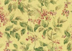 Mill Creek Fabric Bloomsbury Floral Drapery Upholstery Yello