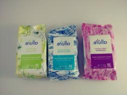 Allure Facial Cleansing Wipes Packs of 30 Lavender  Witch Ha