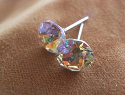 HYPOALLERGENIC Stud Earrings Swarovski Elements Crystal Earr