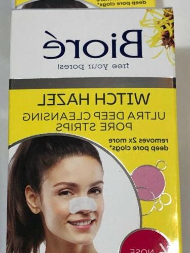 2 Biore Deep Cleansing Pore Witch Hazel, Nose Strips