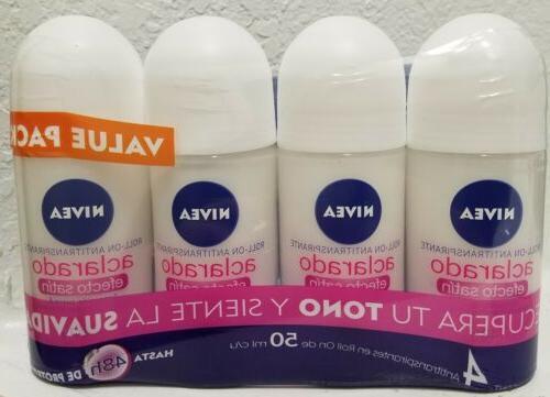 4 pack aclarado whitening roll on antitranspirante