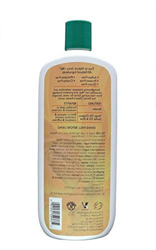 Aubrey Organics Shampoo - Keratin Natural Moisturizing w/ Organic Jojoba & Aloe Vera Sulfate Free & Paraben 16oz