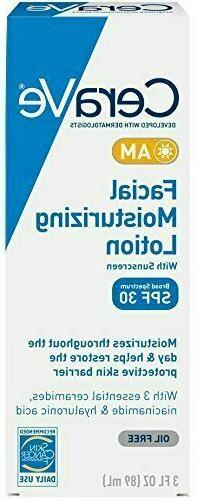 CeraVe Facial Moisturizing Lotion AM SPF 30   3oz   Daily Fa