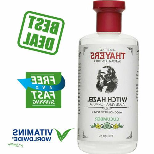 thayers cucumber witch hazel face toner alcohol