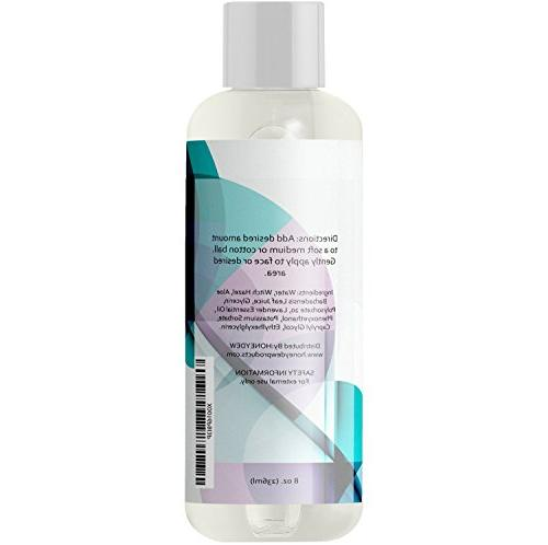 Witch Hazel Toner Alcohol Free Vera and Lavender for Skin Skin Refine Pores Clear Acne - Nourishing Anti-Aging Natural Skin Care by Honeydew
