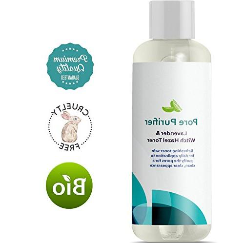 Witch Hazel Alcohol Free Astringent Vera and Skin - Skin Refine Pores Clear Acne Anti-Aging Formula Natural Honeydew