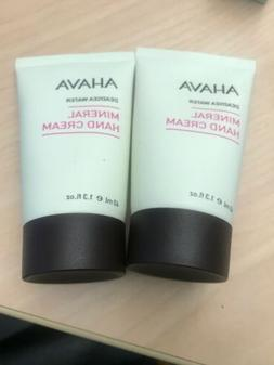 AHAVA Mineral Hand Cream Deadsea Water. 1.3oz Ea - Lot of 2