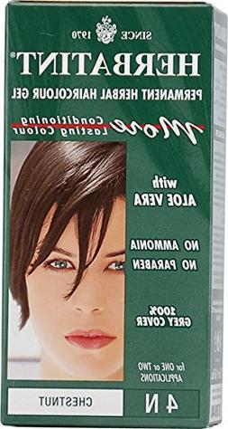 Herbatint Permanent Herbal Haircolour Gel 4N Chestnut - 135