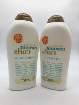 OGX QUENCHING Coconut Curls Shampoo + Conditioner 19.5 oz Ea